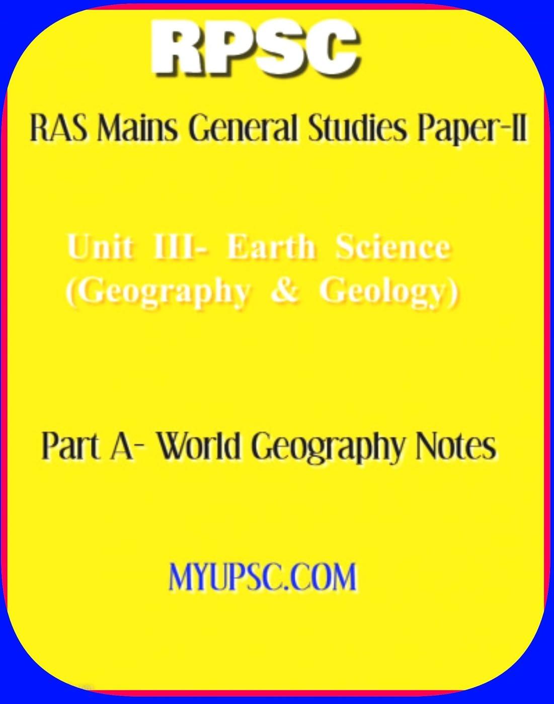 RAS Mains World Geography