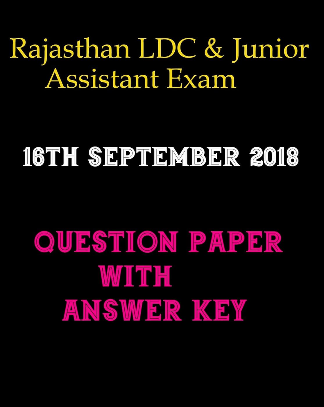 LDC ANSWER KEY 16 SEPTEMBER 2018 paper-II