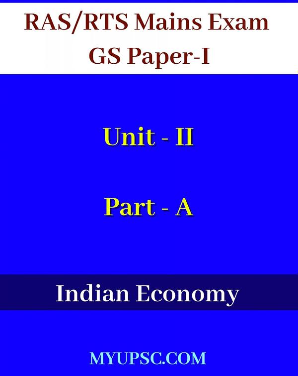 RPSC RAS Indian Economy