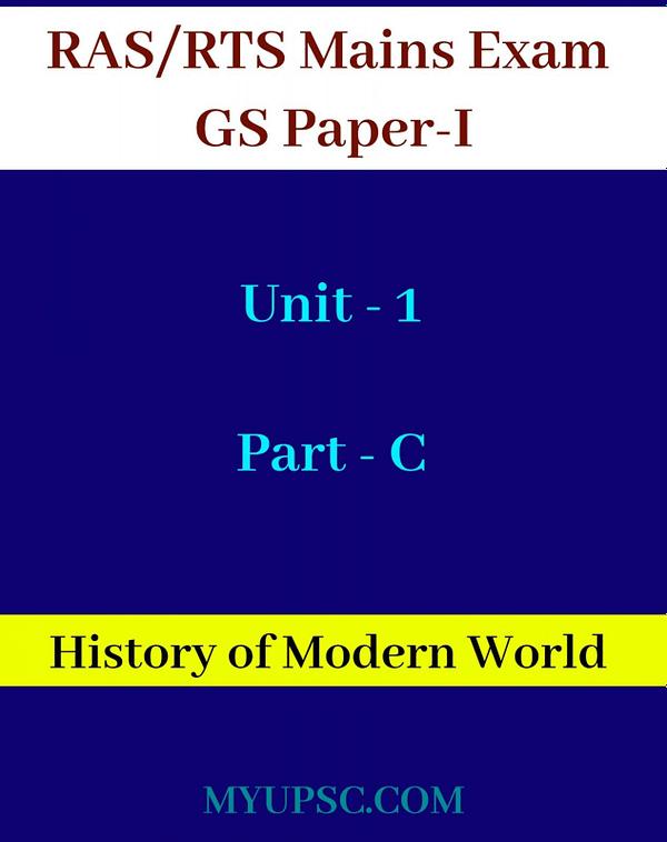 RAS Mains World History