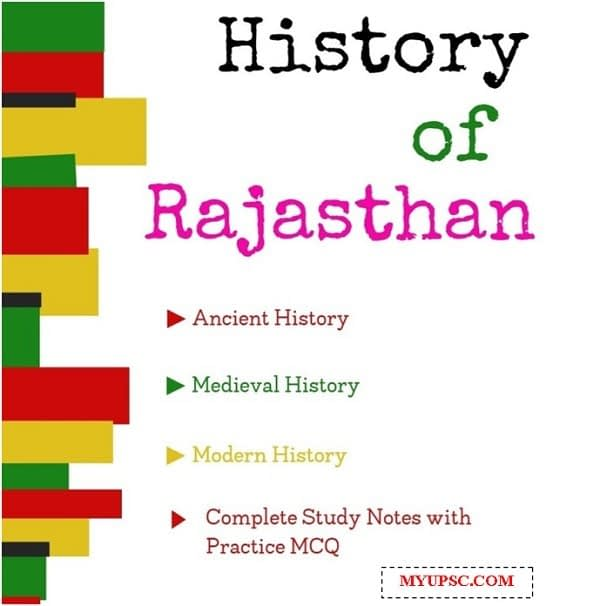 History of Rajasthan Complete Study Notes with Practice MCQ