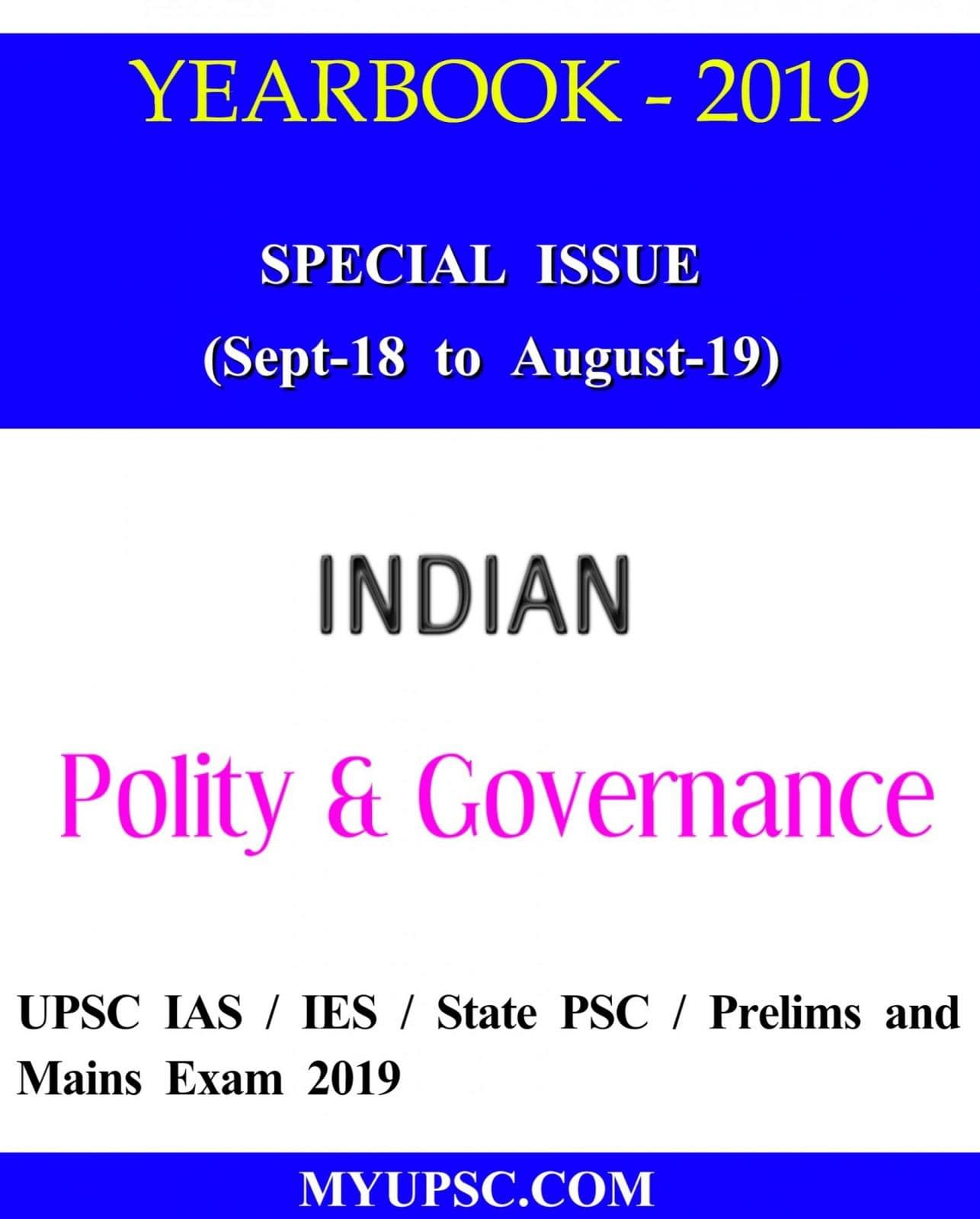 Indian Polity and Governance Yearbook 2019-20