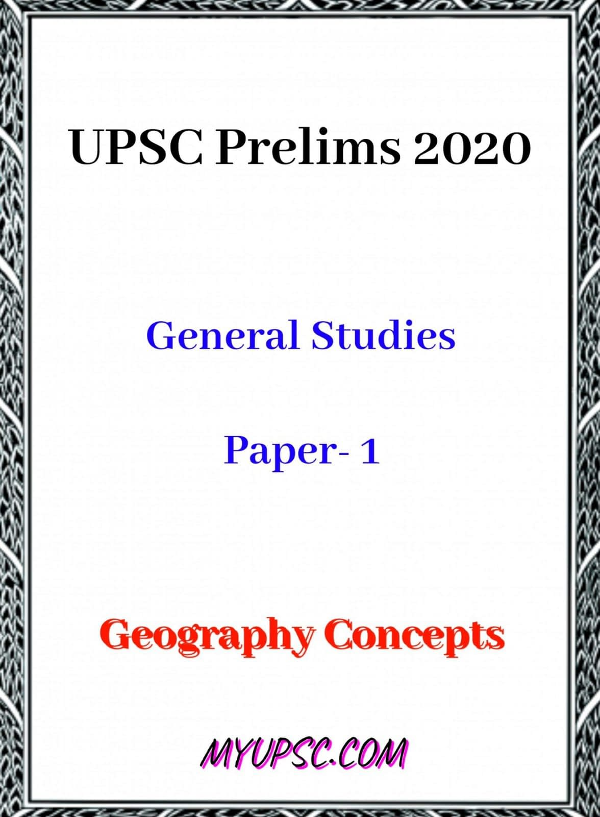 UPSC Prelims 2020: Basic Geography Concepts