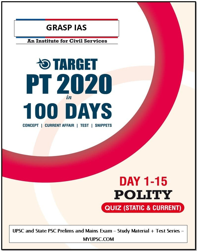 Target PT: UPSC Prelims 2020 day 1-15 MCQs