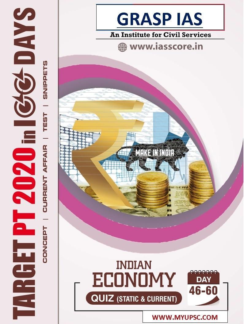 Target PT 2020 in 100 days: UPSC Prelims: day 46-60 MCQs